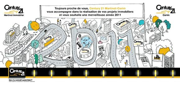 Meilleurs voeux pour 2011 century 21 martinot for Agence immobiliere yonne