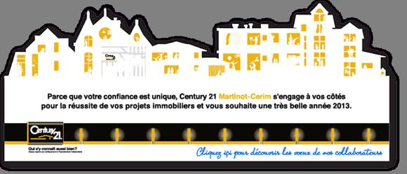 Voeux century21 martinot immobiler montereau century 21 for Agence immobiliere yonne