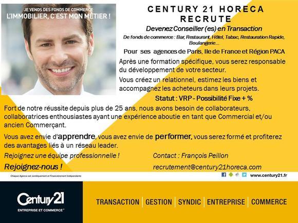 notre agence recrute    u2013 century 21 horeca paris  u2013 agence